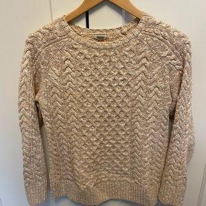 LL Bean cotton fisherman sweater